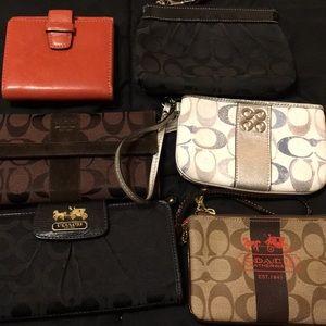 Handbags - Six Coach Wallets all beautiful